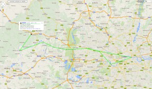 Helicopter APRS track