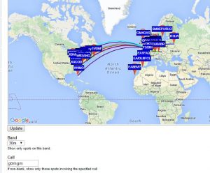 WSPR 30m with Ultimate 3 100mw and Alex loop indoor